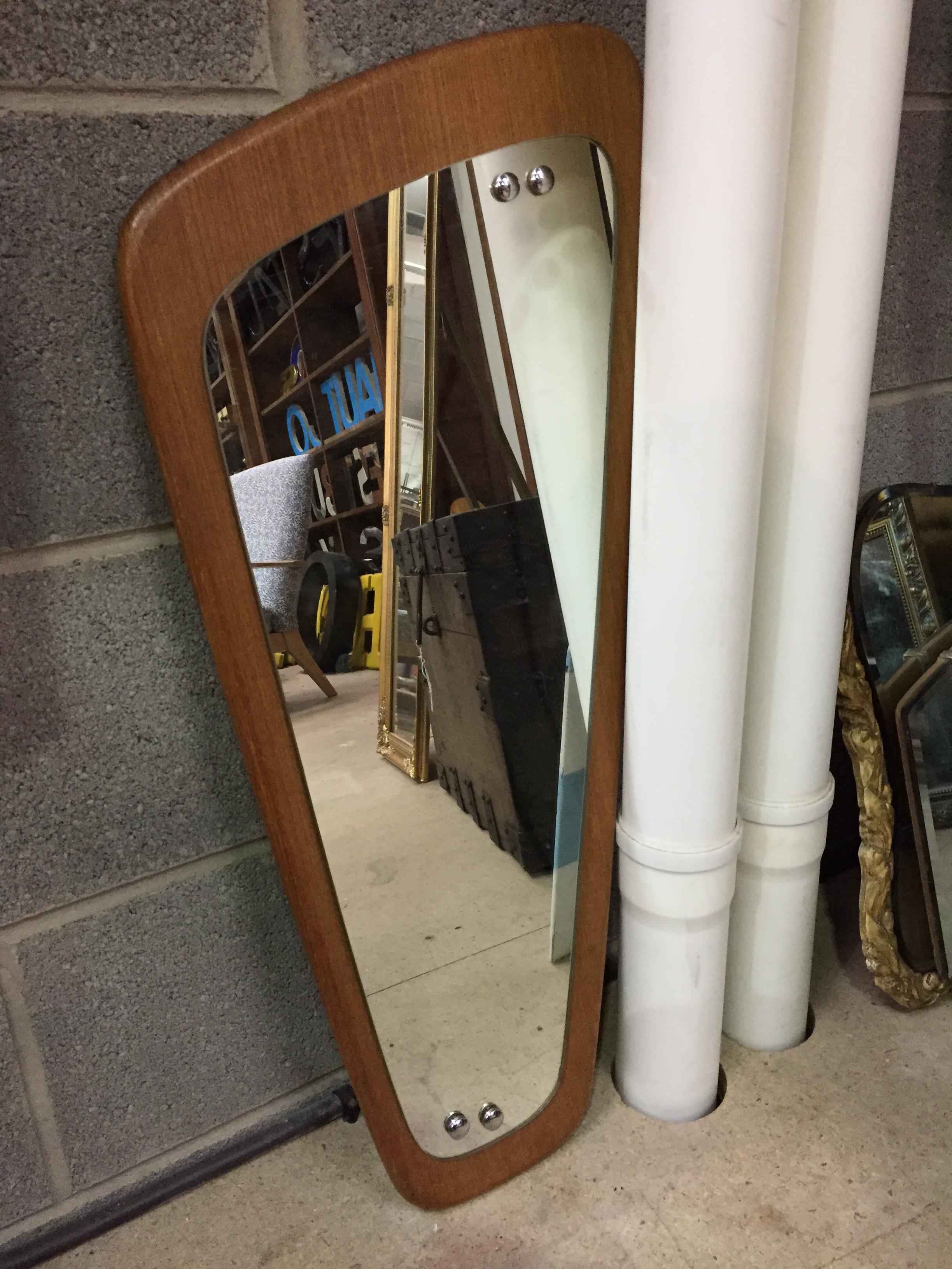 Mid Century Gplan Teak Asymmetrical Wall Mirror Img 0923