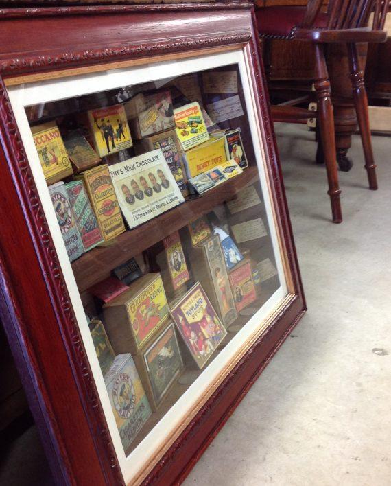 3d collage depicting vintage merchandise on the square. Black Bedroom Furniture Sets. Home Design Ideas
