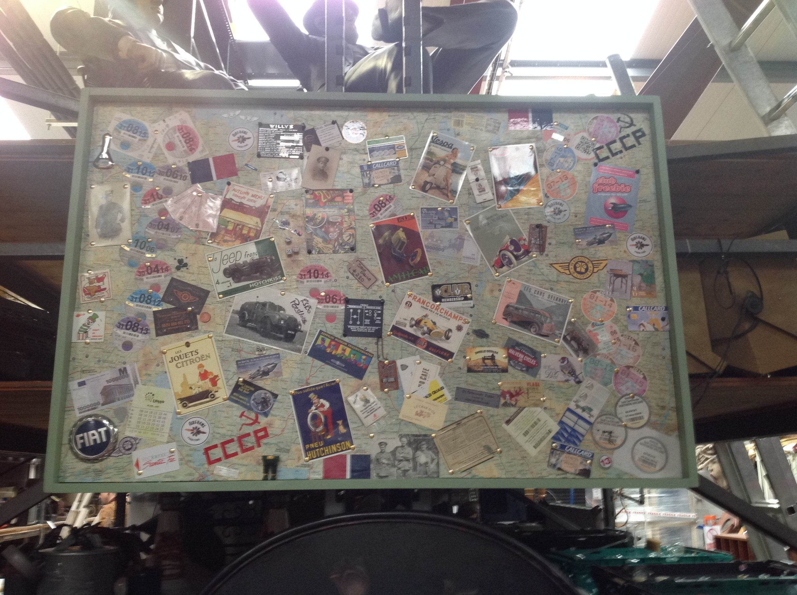 bulletin vintage board style
