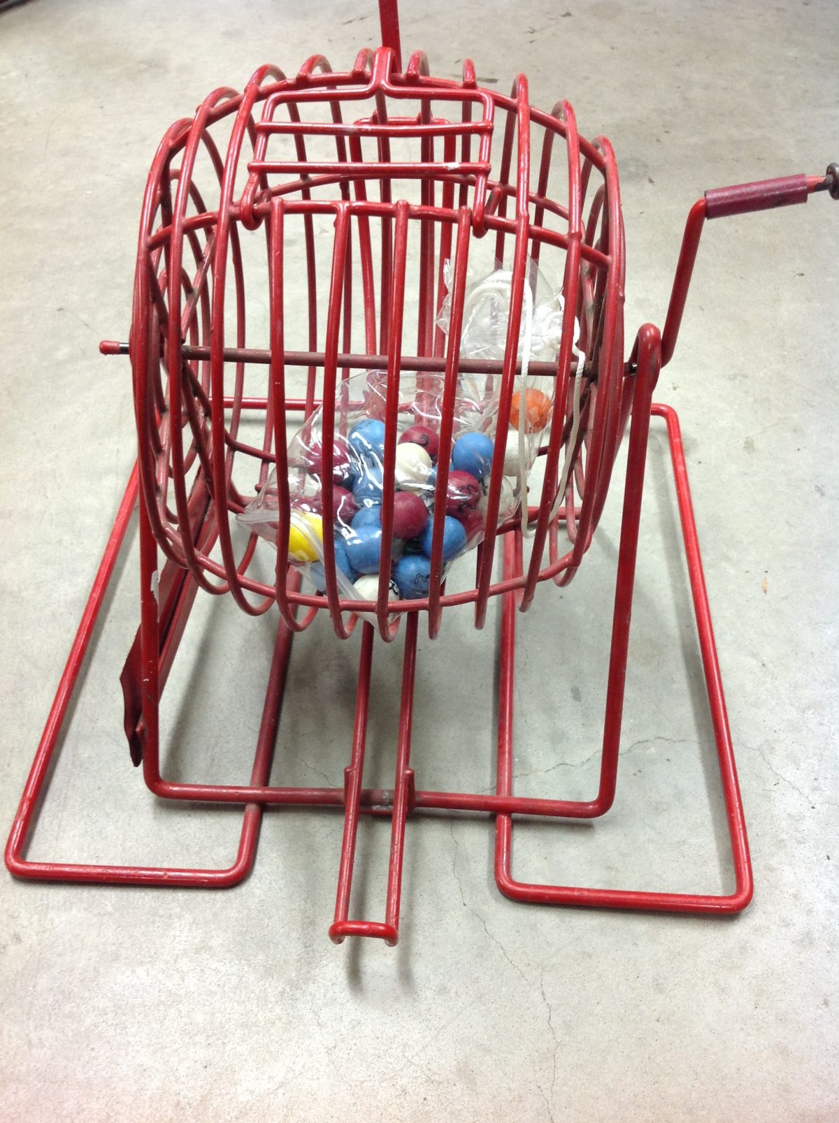 Bernard Tombola Bingo Lottery Cage On The Square